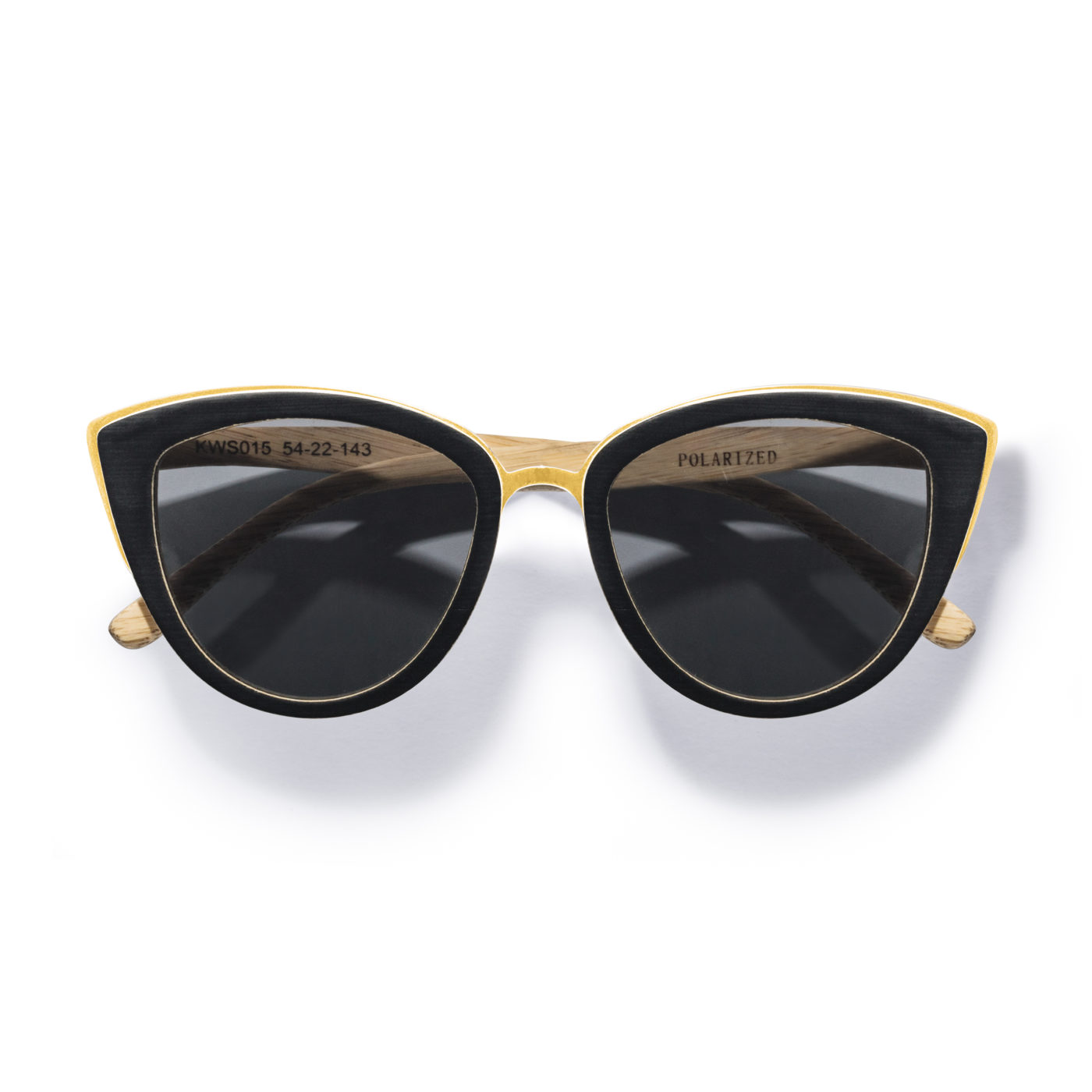 Kraywoods cat eye bamboo sunglasses made with polarized lenses