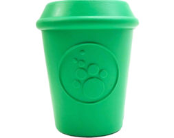 Coffee Cup Durable Rubber Chew Toy and Treat Dispenser by SodaPup