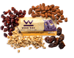 Peanut Butter and Jam 25mg Hemp Extract Wise Bar