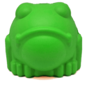 MKB Bull Frog Durable Rubber Chew Toy & Treat Dispenser – Large – Green