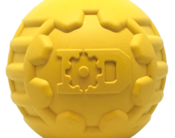ID Ball – Ultra-Durable Rubber Chew Ball – Large – Yellow