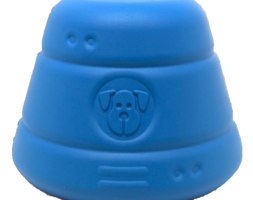 SN Space Capsule Durable Rubber Chew Toy & Treat Dispenser – Large – Blue