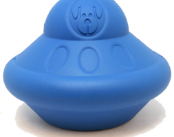 SN Flying Saucer Durable Rubber Chew Toy & Treat Dispenser – Large Blue