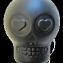 MKB Magnum Sugar Skull Ultra-Durable Chew Toy & Treat Dispenser – Large – Black
