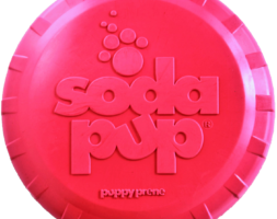 SP Puppy Bottle Top Flyer Durable Rubber Retrieving Frisbee for Puppies – Pink
