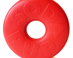 SP Life Ring Durable Rubber Chew Toy & Treat Dispenser – Large – Red