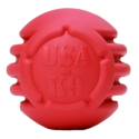 USA-K9 Stars and Stripes Ultra-Durable Rubber Chew Ball – Red