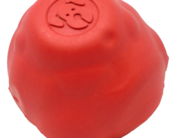 SN Asteroid Ultra Durable Rubber Chew Toy – Large – Red