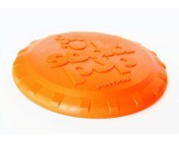 SP Bottle Top Flyer Durable Rubber Retrieving Frisbee – Orange Squeeze