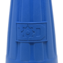 ID Wire Nut Durable Rubber Chew Toy & Treat Dispenser – Large – Blue