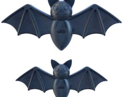 SodaPup Vampire Bat Ultra Durable Nylon Dog Chew Toy for Aggressive Chewers- Black -medium