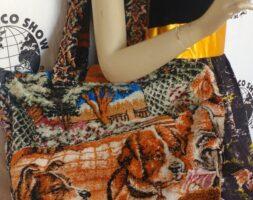Poker Dogs Carpet bag Steampunk Repurposed