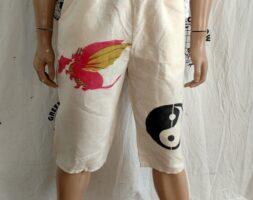 Hermans Hemp drawstring Pants shorts M with graphics