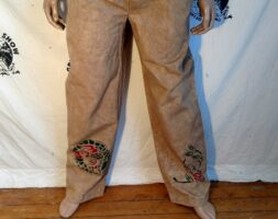 Hermans Eco Organic cotton hand dyed airbrushed drawstring pants Japanese motif