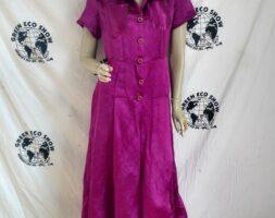 Hermans Hemp Silk Jumpsuit Womens Med Hand dyed USA