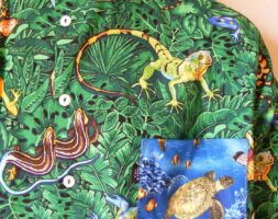 Endangered Species Lizard Shirt XL Hermans Eco USA