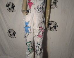 Womens Overall airbrushed Hermans Eco M panda pigs pixie USA