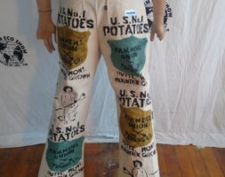 Potato Farmer Air Brushed Canvas jeans Bells 34 Hermans Eco USA