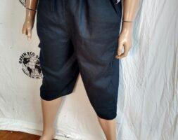 Black Mens Yoga shorts XL Hermans Hemp