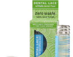 Dental Lace Refillable Floss in Blue Wave Design