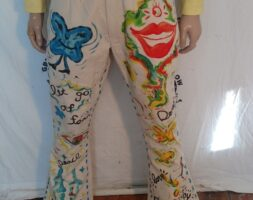 Mens Hand painted Grafitti Jeans 34 Hermans , Eco Byson