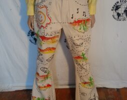 Mens Hand painted Jeans Grafitti 36″ Hermans Eco Bryson Canvas USA