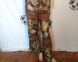 Hermans Eco Patchwork Ducks Endangered Species High Waisted Pants M