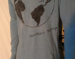 Hermans Hemp Organic cotton Blue T shirt World M