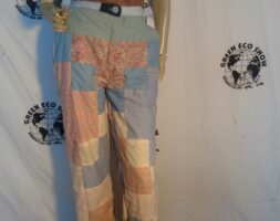 Womens Patchwork Pants MED Hermans Eco Made in USA
