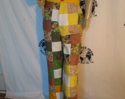 Womens Patchwork pants M High waisted Bells Hermans eco USA