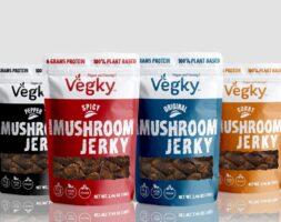 Vegky Shiitake Mushroom Jerky 4 Flavors (70 Grams each)