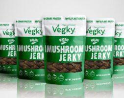 Wasabi Vegky Shiitake Mushroom Jerky 5 pack (70 Grams each)