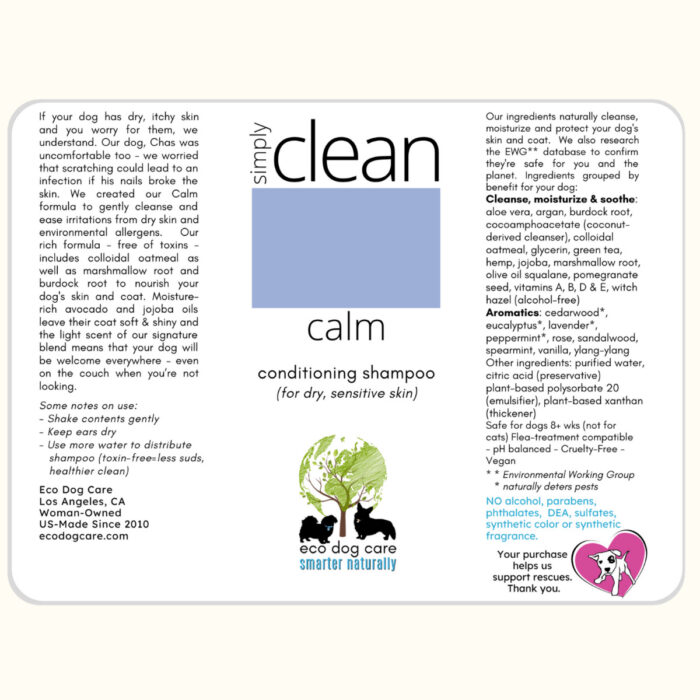 Simply Clean Calm Label