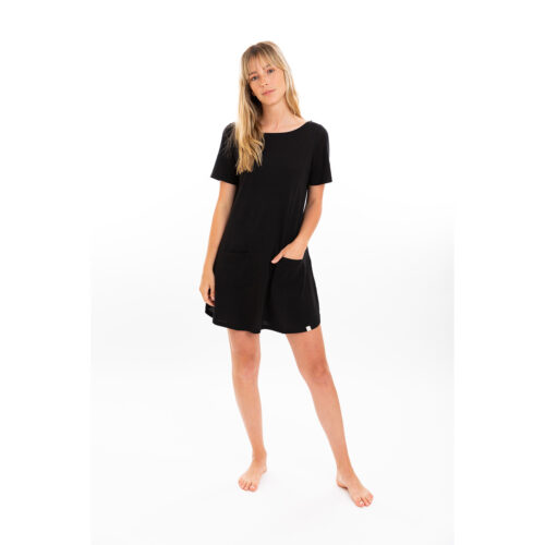 Tshirt pima dress color black