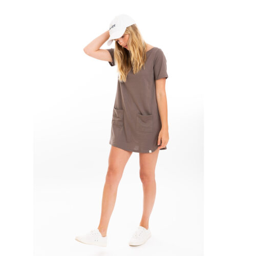 Tshirt dress color dusk