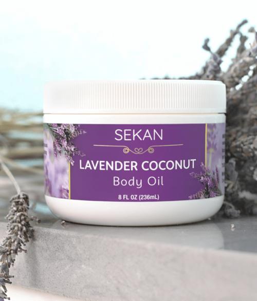 lavender coconut body oil