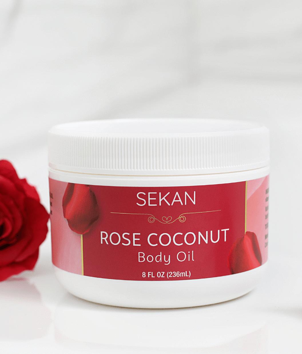 rose coconut body oil